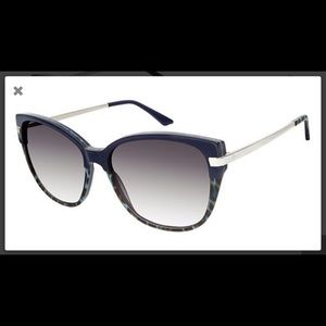 Kay Unger New York Blue Sunglasses w/ Case New